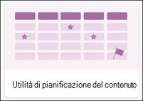 Modello di elenco utilità di pianificazione contenuto
