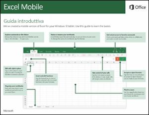 Guida introduttiva di Excel Mobile