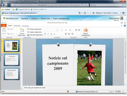 PowerPoint nel browser