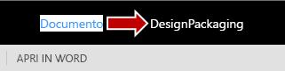 Modifica del nome di un file di Word Online