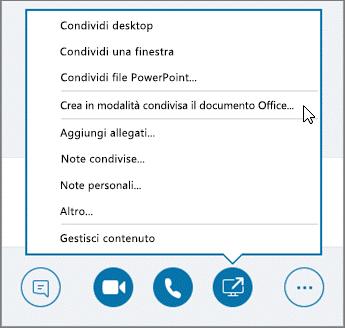 Creare un documento in modalità condivisa