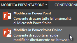 apri in powerpoint online