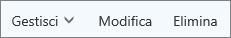 Gestire, modificare o eliminare contatti sulla barra dei comandi di Outllook.com