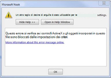 Errore di Outlook