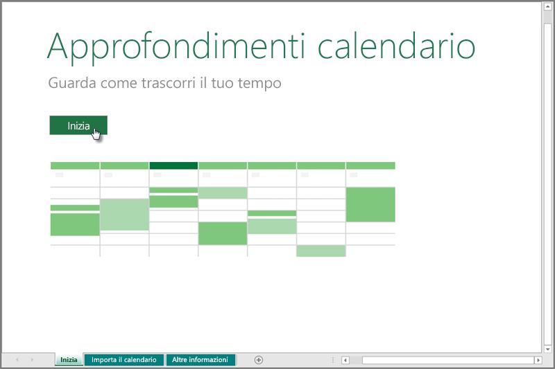 Modello Approfondimenti calendario