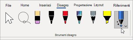 Selezionare lo strumento Editor input penna