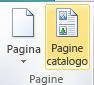 Avvio della composizione delle pagine di catalogo