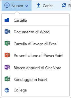 Creare un nuovo file in una raccolta documenti in Office 365