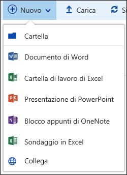 Creare un nuovo file in una raccolta documenti in Office 365