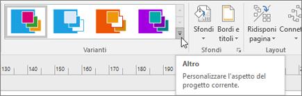 Varianti sulla barra multifunzione di Visio