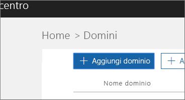 Fare clic su Aggiungi dominio