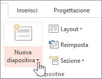 Pulsante Nuova diapositiva