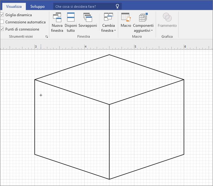 Disegnare manualmente la forma con lo strumento Linea.
