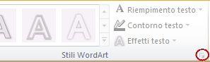 Immagine della barra multifunzione di PowerPoint