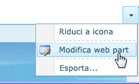 Fare clic su Modifica web part