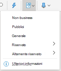 Pulsante di sensitività e menu a discesa in Office sul Web