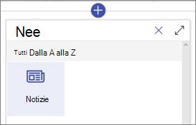 La web part Notizie nella casella degli strumenti web part