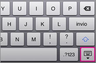 Nascondere la tastiera