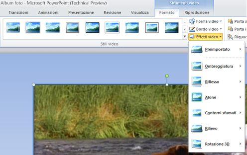 Applicare effetti speciali a un video