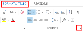 Finestra di dialogo Paragrafo di Outlook