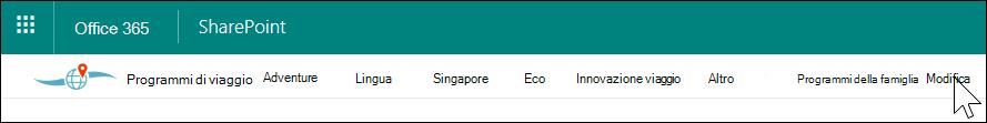 Spostamento di hub di SharePoint