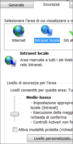 Area Intranet locale