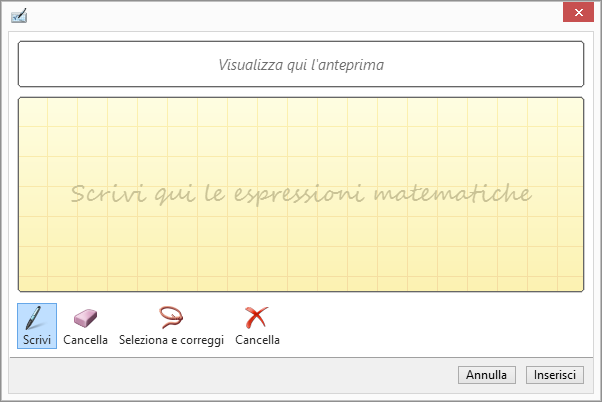 Riquadro Equazione a penna in PowerPoint