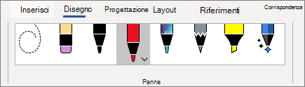 Scegliere una penna dalla raccolta penne