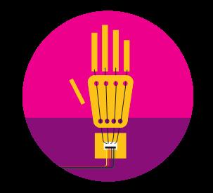 Icona della mano automatica