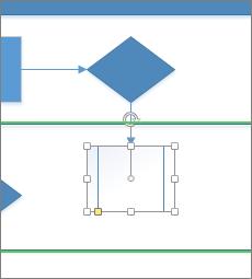 Rilasciare su una freccia di connessione automatica