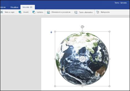 La scheda modello 3D di Word