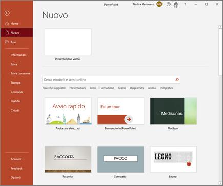Creare una nuova presentazione in PowerPoint