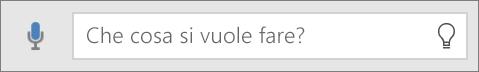 """Casella di ricerca """"Aiutami"""" in Office Mobile"""