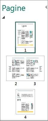 Riquadro di spostamento nel quale sono visualizzate pagine singole e pagine doppie.