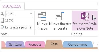Gestire le note rapide con lo strumento Invia a OneNote