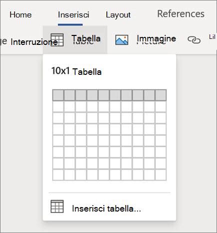 Inserire tabelle in Word per il Web