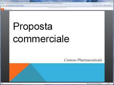 visualizzazione nel browser di una presentazione trasmessa