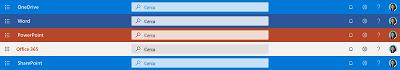 Screenshot della casella di ricerca nella parte superiore di varie app