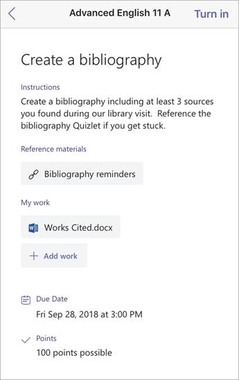 Creare una finestra Bibliografia