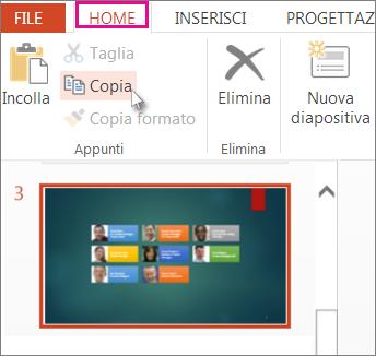 Copiare una diapositiva