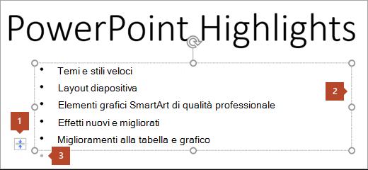 Diapositiva con segnaposto di testo