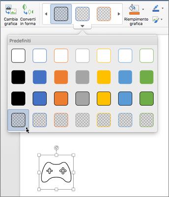 Modificare lo stile grafico di un'icona