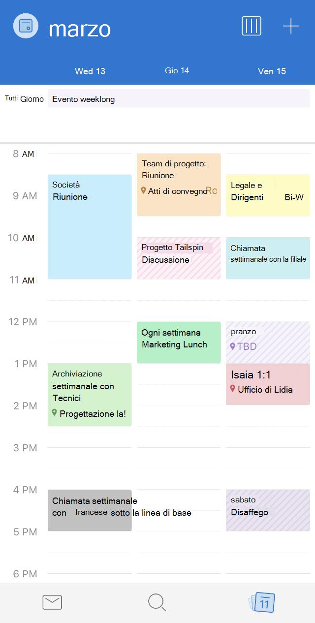 Categorie del calendario