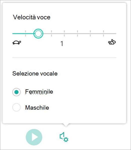 Velocità della voce del lettore immersiva e sesso