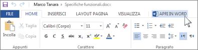Aprire l'applicazione di Office completa invece di eseguire Office Online