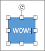 Modificare il testo della forma in WOW!