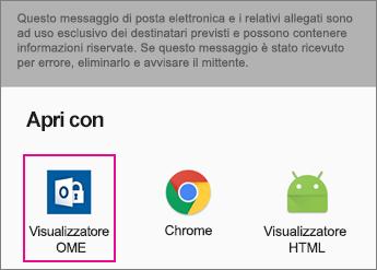 Visualizzatore OME con Gmail su Android 2
