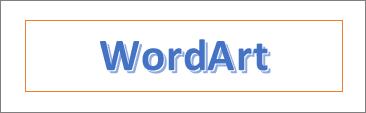 Esempio di WordArt