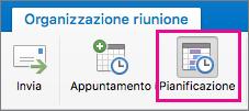 Pulsante Pianificazione in Mac 2016