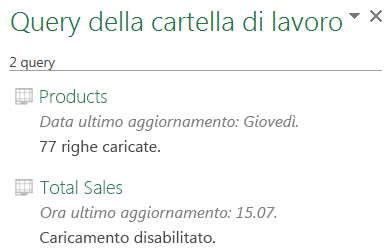 Disabilitare un download di query